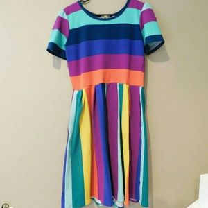Beautiful Colorful Amelia pleated skirt Dress!